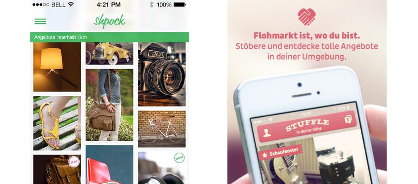 Shpock und Stuffle, die Flohmarkt-Apps