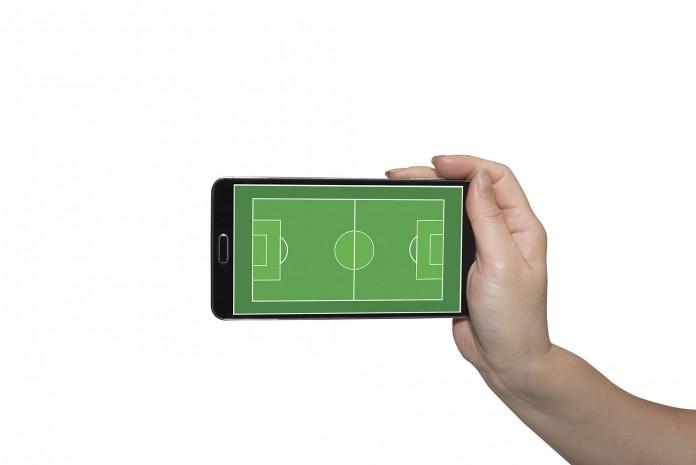 Fußball auf dem Handy