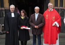 Sridharan mit Frau, Stadtdechant und Superintendenten