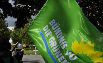 Grünen-Fahne