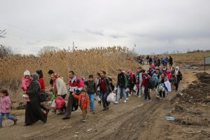 Flüchtlingstrek auf der westlichen Balkanroute @Francesco Malavolta