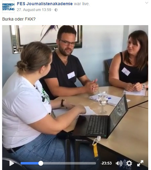 Diskussion bei Facebook-Live