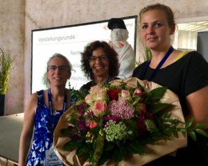 Vertretung des Bürgermeisters, Moderatorinnen, Blumen, Vorstellungsrunde, Tourismuscamp 2017, Bad Honnef