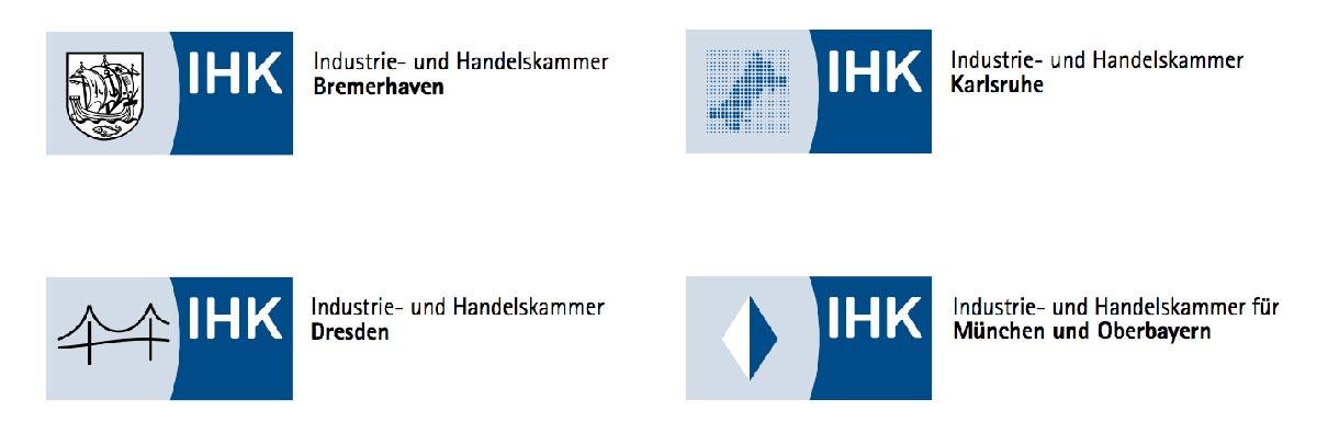 Logos verschiedener IHKs.