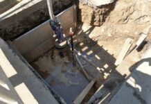 Baustelle an der B9: Defekter Hydrant führte zu unterspülter Straße
