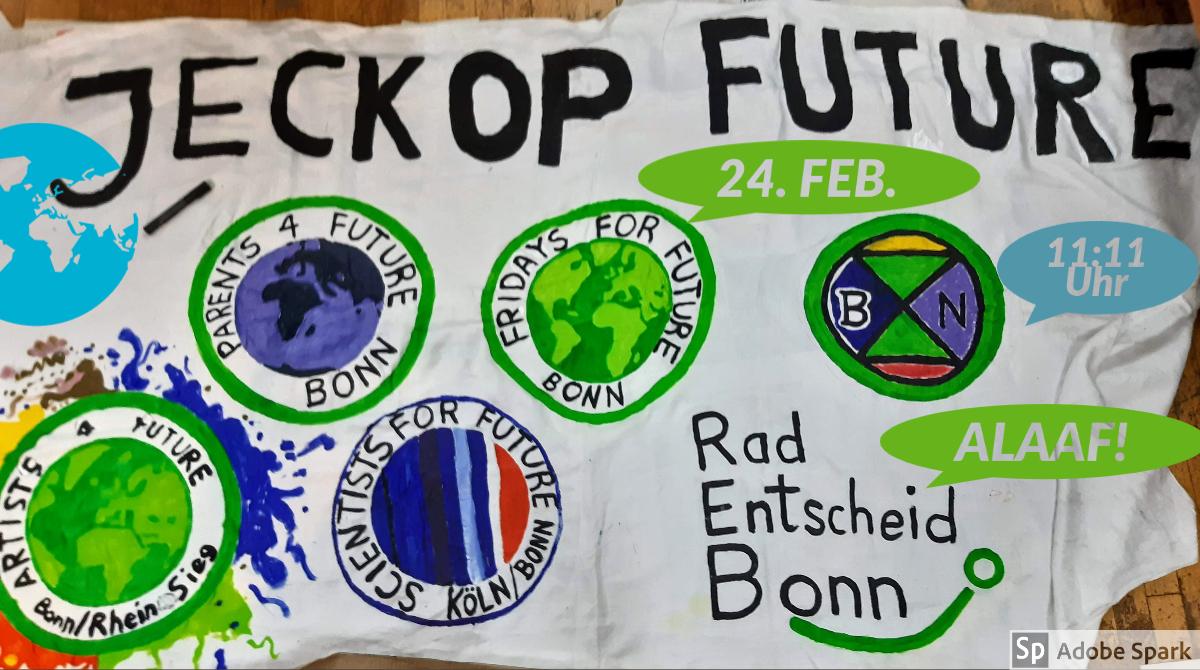 For Future Alaaf! - Jeck op Future Fußgruppe zieht im Bonner Rosenmontagszug mit - Bundesstadt.com
